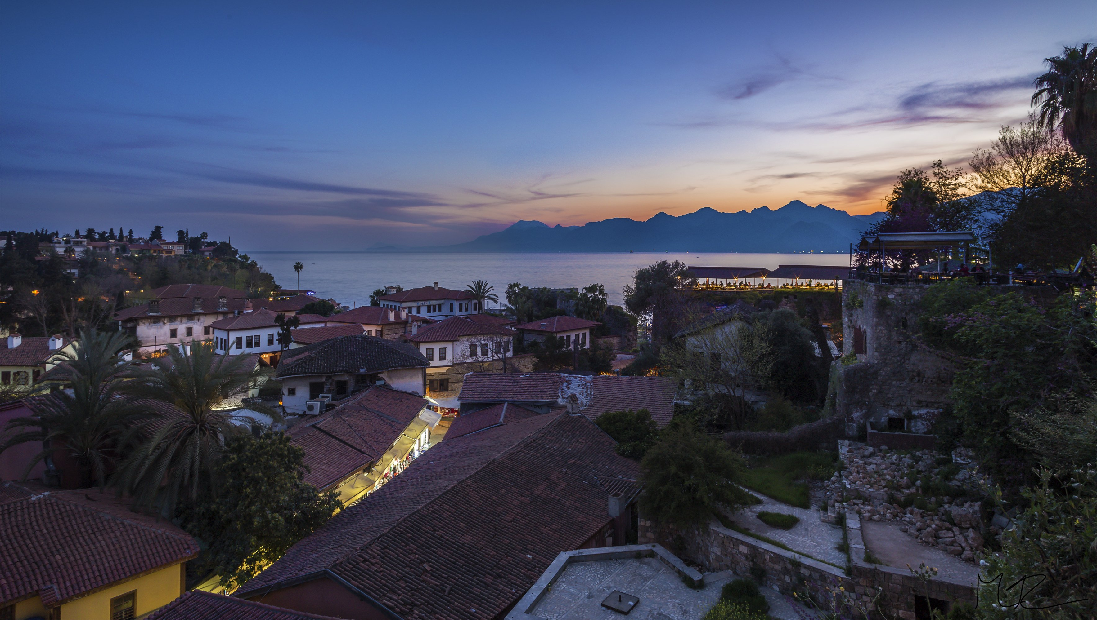Sunset over Antalya